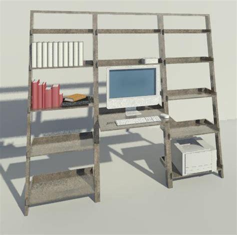 Computer Desk Shelves by Revitcity Object Computer Desk Shelves