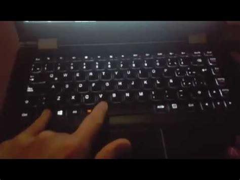 como activar la iluminacion del teclado laptop lenovo