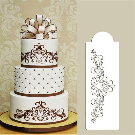 small princess lace cake stencil cake side stencil