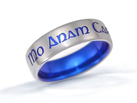 personalized ring custom name ring custom titanium