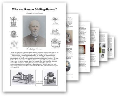 international association of biography and autobiography the international rasmus malling hansen society malling