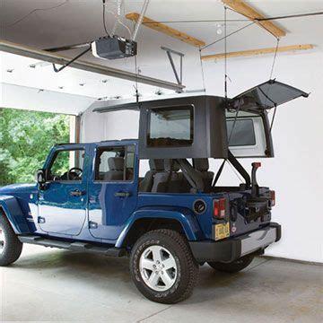 harken jeep storage hoister system garage ceiling pulley