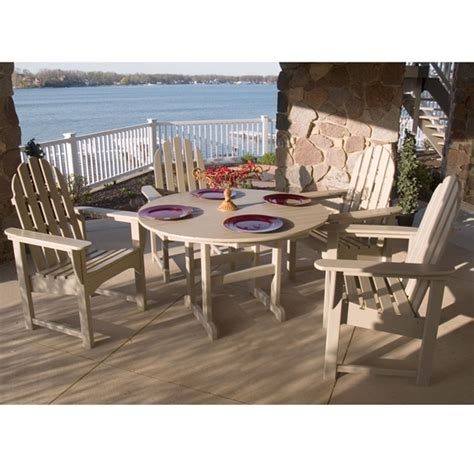 Adirondack Patio Furniture Sets Polywood 174 Classic Adirondack Casual Dining Set Pw Adirondack Set1