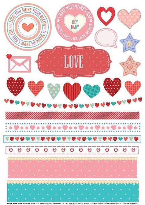 valentines scrapbook printable valentines printable