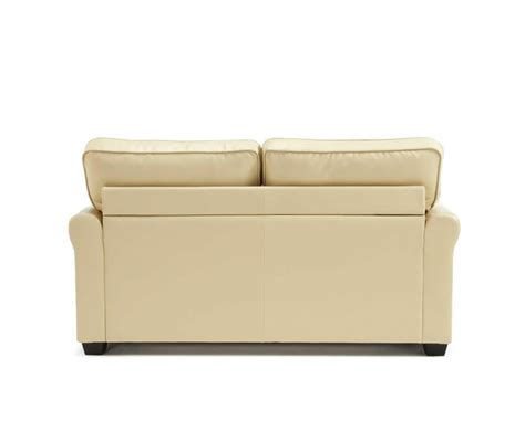 cream leather sofa bed naples 112cm cream faux leather sofa bed just 4ft beds