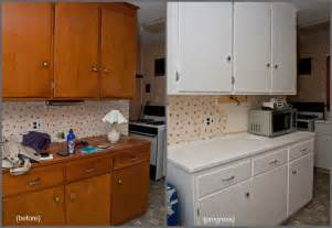 Painting Old Kitchen Cabinets Before And After how to refurbish kitchen cabinets home design