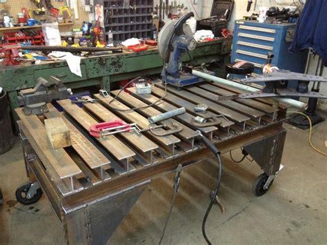 diy welding bench diy welding table and cart ideas part 2