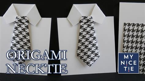 How To Make A Paper Football Shirt - how to fold an origami necktie greeting card with origami