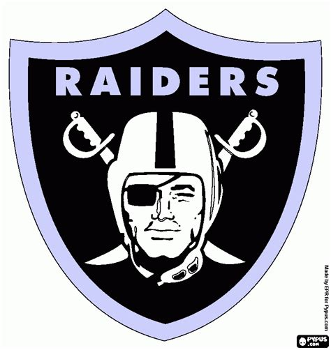 Oakland Raiders Coloring Pages oakland raiders coloring page printable oakland raiders
