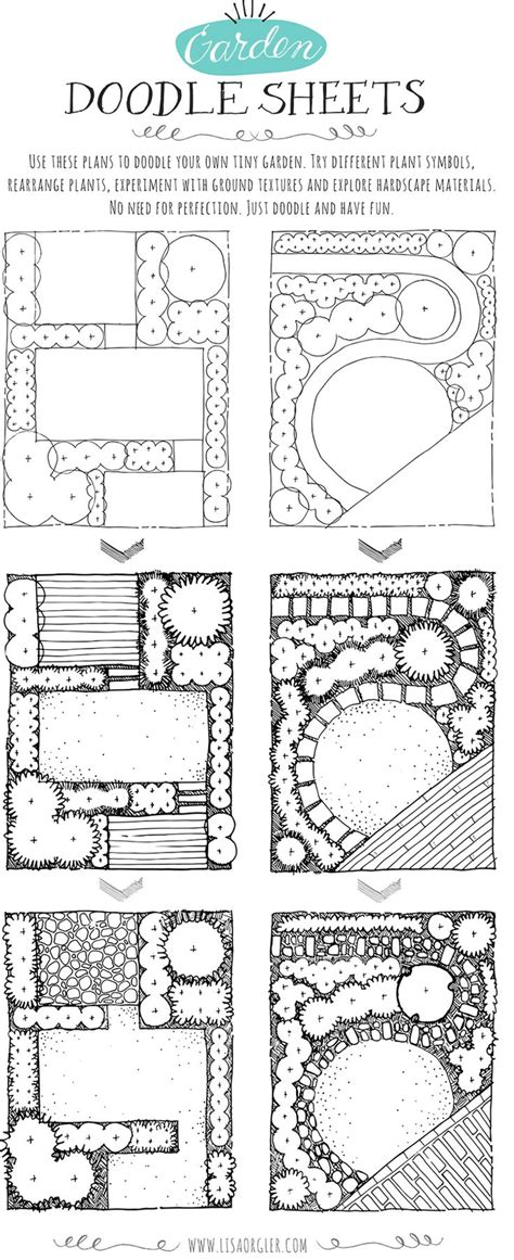 Dec Garden Doodle Sheets Top Best Landscape Plans Ideas On Best Garden Layout