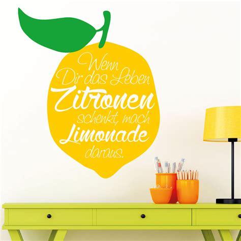 Aufkleber Entfernen Zitrone by 10839 Wandtattoo Loft Aufkleber Zitrone Limonade Spruch
