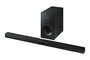 samsung 2 1 channel 130w soundbar samsung hwj355 2 1 channel sound bar audio system hw j355 za new ebay
