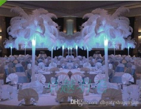 feather plume centerpieces white ostrich feathers plume centerpiece for