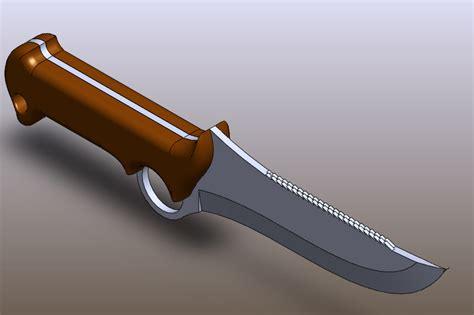 solidworks tutorial knife knife solidworks 3d cad model grabcad