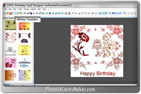 Birthday Cards Maker Screenshots Of Birthday Card Maker Software For Designing