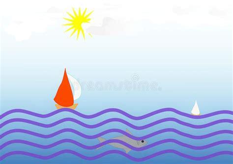 clipart mare clipart con una progettazione delle barche a vela nel mare