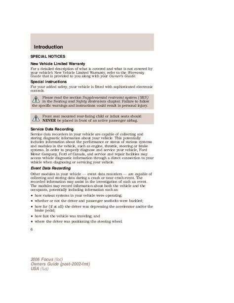 automotive repair manual 2011 ford focus user handbook 2006 ford focus owners manual