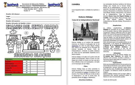 cuestionario de geografia 6 grado bloque 4 2016 examen del sexto grado del segundo bloque del ciclo