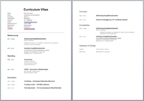 Cv Sjabloon Excel Cv Voorbeeld Curriculum Vitae 5 Gratis Cv Templates Downloaden