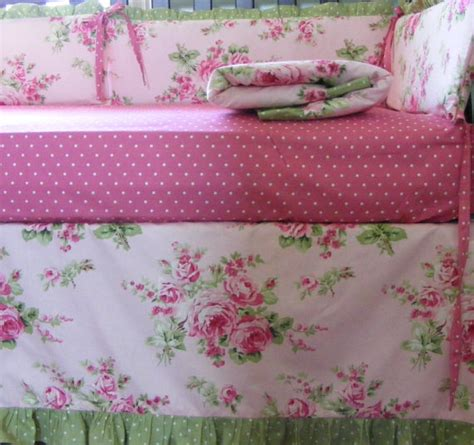 pink and green crib bedding pink and green baby bedding set quilt bumper and skirt and