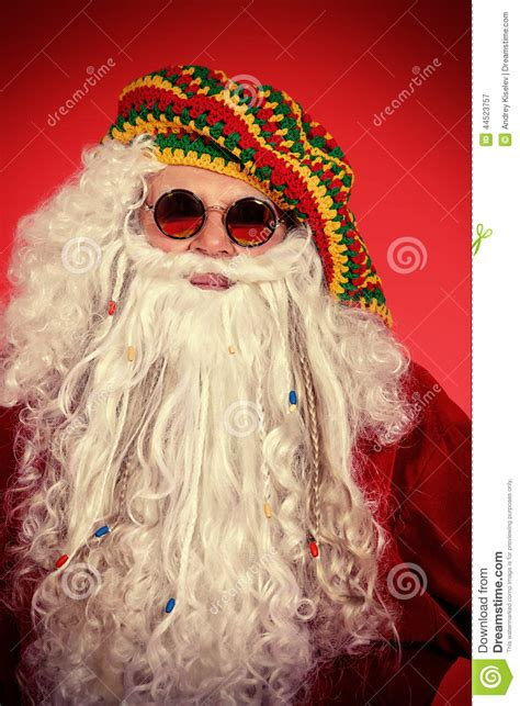 hippie santa stock photo image