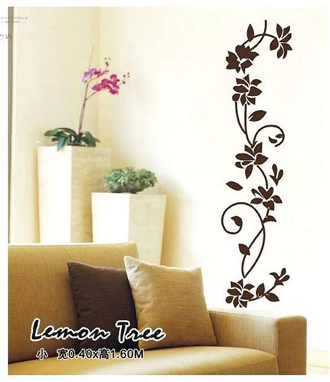 home decals for decoration black flower vine wall stickers refrigerator window