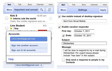 mobile gmail gmail mobile app update adds login support