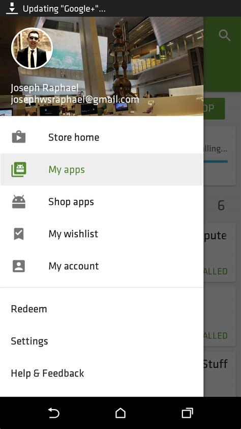 google play store updated     nav drawer