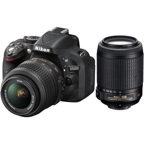 Nikon D5200 Vr Ii nikon d5200 18 55mm vr 55 200mm vr kit black dslrs
