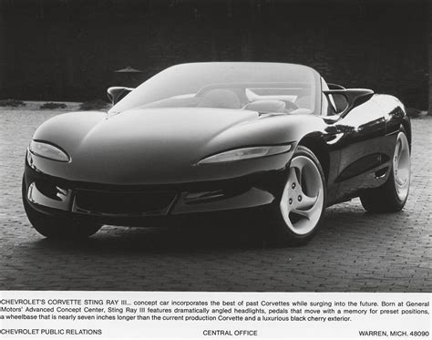 chevrolet  corvette sting ray iii concept car