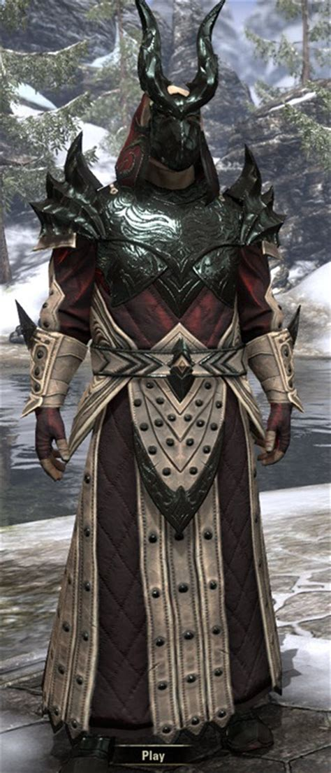 ebony light armor eso eso fashion meritorious service ebonheart pact