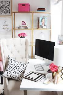 Kate Spade Inspired Bedroom Meagan Ward S Girly Chic Home Office Office Tour Sayeh