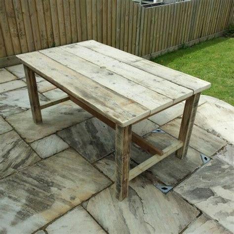 garden table  reclaimed scaffolding boards garden