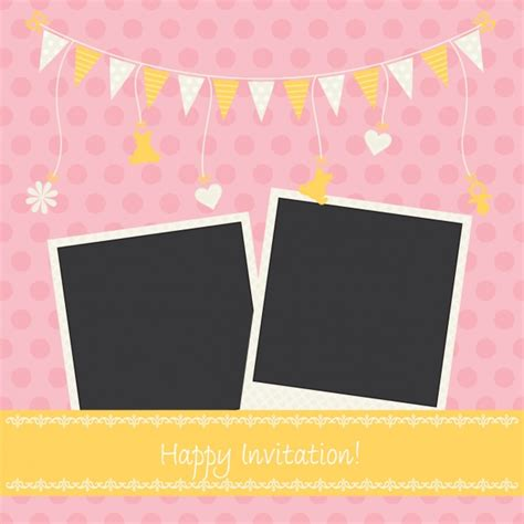 invitation design vector free download birthday invitation design vector free download