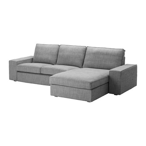 Loveseat With Chaise Lounge Kivik Loveseat And Chaise Lounge Isunda Gray Ikea