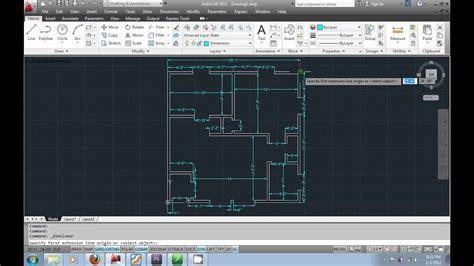 autocad  urdu tutorial part floorplan layout youtube