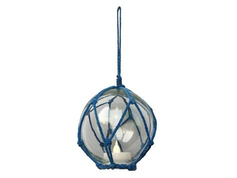 Wholesale Nautical Decor by Led Lighted Clear Japanese Glass Fishing Float With