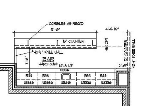 Kitchen Cabinets Memphis by Home Bar Plans Design Blueprints Drawings Back Bar Counter