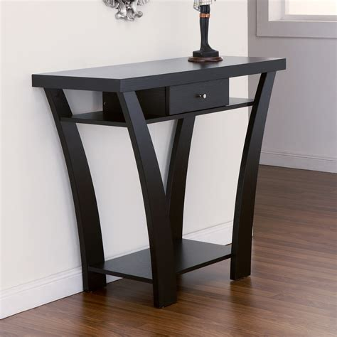 wall accent tables exceptional design black console table style home