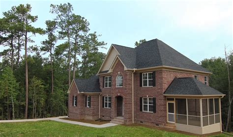 all brick two story home apex home builders stanton homes