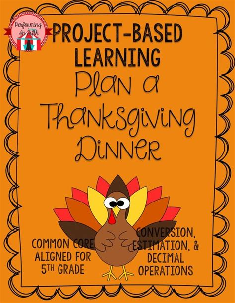 Thanksgiving Dinner Project Based Learning Decimals