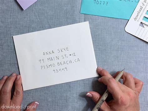 Free Printable Envelope Addressing Template Printable Envelope Address Template