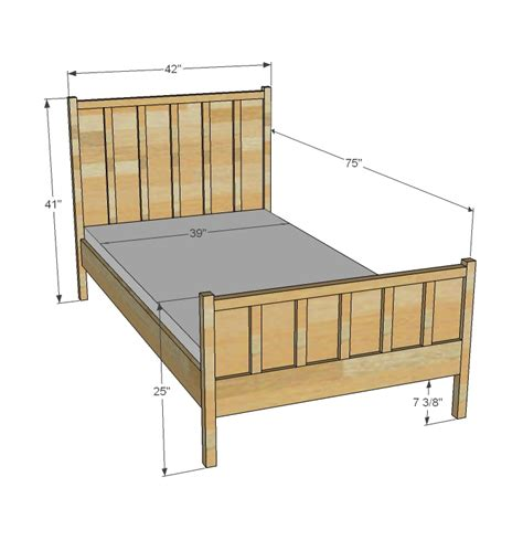 single bed dimensions ana white cabin collection single bed diy projects