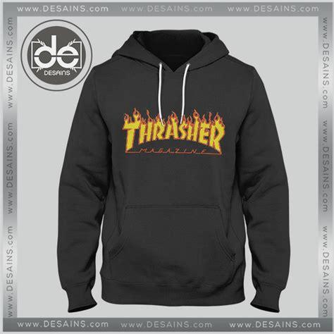 Jaket Hoodie Supreme X Thrasher Grey hoodie thrasher magazine logo hoodies mens hoodies womens