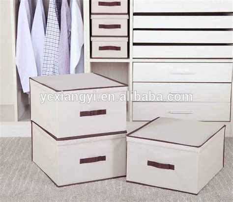 Decorative Storage Boxes For Closets by Decorative Woven Collapsible Fabric Lidded Shelf Storage