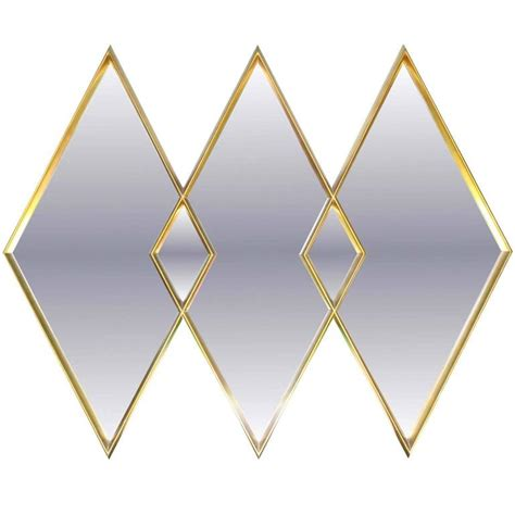 diamond pattern wall mirror labarge gilded diamond trio wall mirror for sale at 1stdibs