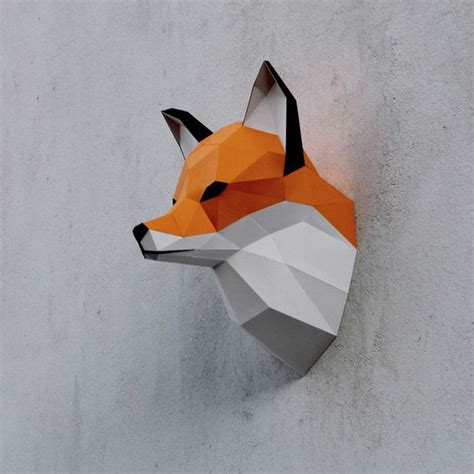 Origami Fox Mask - papercraft fox on behance
