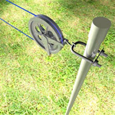 installer  poteau de corde  linge  rona