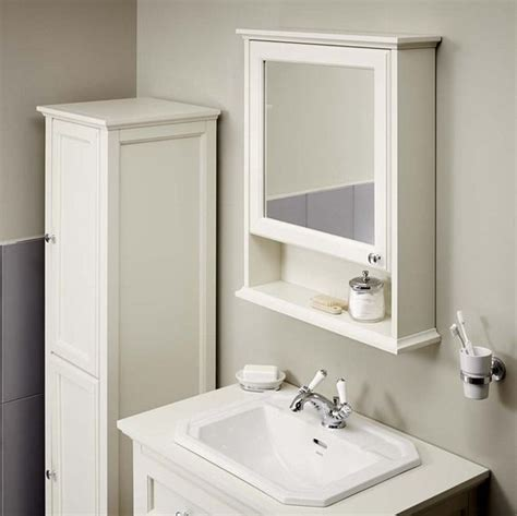 bathroom cabinet with heated mirror savoy old english white mirror cabinet 750 x 600mm