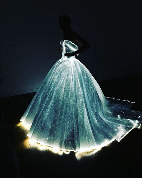 Christmas Tree With Optical Fiber Lights - glowing dress turns claire danes into cinderella at the met gala bored panda
